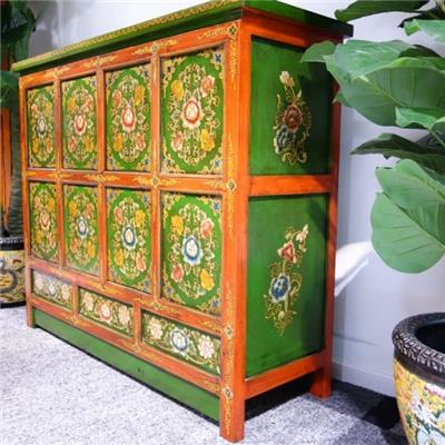dj1367 tibetische kommode aus massivemholz 100 handarbeit. Black Bedroom Furniture Sets. Home Design Ideas