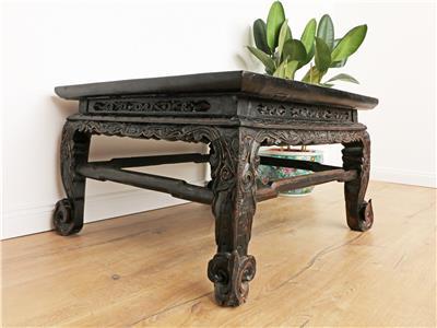 antiker chinesischer tisch massivholz china couchtisch teetisch dj1936 ebay. Black Bedroom Furniture Sets. Home Design Ideas