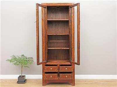 vitrine showcase mit handbemalung chinesischer schrank. Black Bedroom Furniture Sets. Home Design Ideas